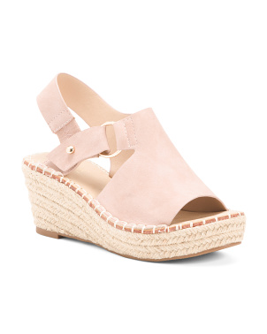 Made In Spain Peep Toe Espadrilles