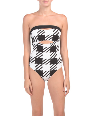 Natalie Houndstooth One-piece Swimsuit