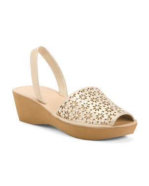 Perforated Slingback Sandals