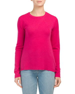 Cashmere Basic Crew Neck Sweater