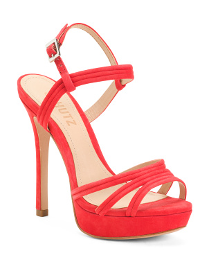 Made In Brazil Leather High Heel Platform Sandals