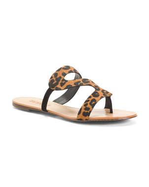 Made In Brazil Leopard Haircalf Sandals