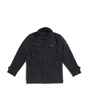Big Boys Wool Blend Coat