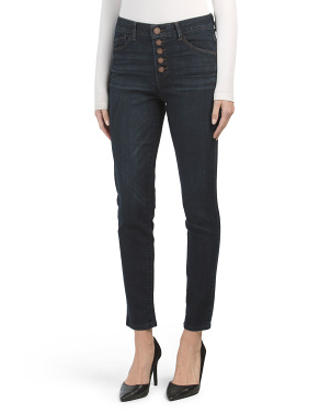 Ab Tech  Button Front Ankle Jeans