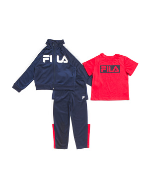 Little Boys 3pc Color Block Track Jacket Set