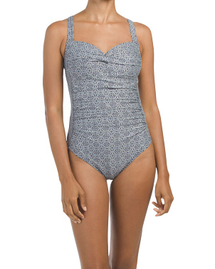 Titillating Tile Foil Joanne One-piece Swimsuit
