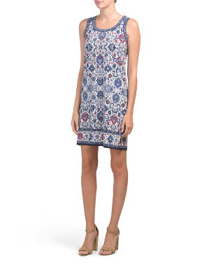Art Novae Floral Border Jersey Dress