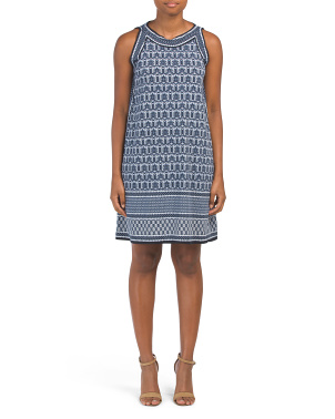 Kehiani Panel Trapeze Jersey Dress