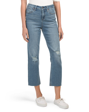 High Rise Vintage Straight Cropped Jeans