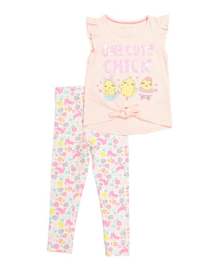 Girls One Cute Chick Legging Set
