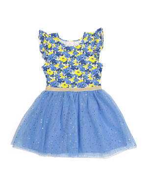 Girls Floral Tutu Dress