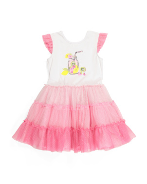 Girls Tropical Tiered Tutu Dress