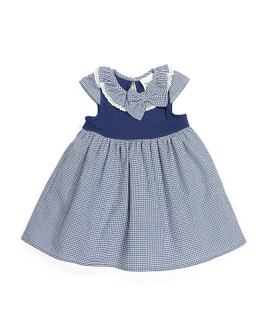 Toddler Girls Gingham Ruffle Dress
