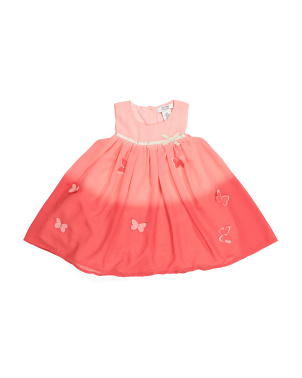 Toddler Girls Ombre Butterfly Dress