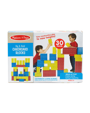 30pc Deluxe Jumbo Cardboard Blocks Set