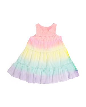 Girls Tiered Tie Dye Dress