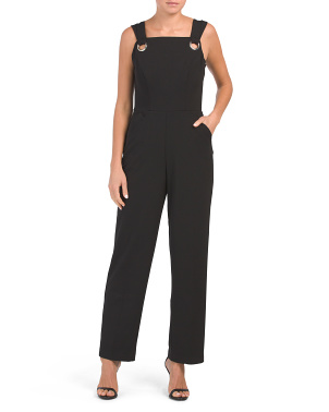 O Ring Crepe Jumpsuit