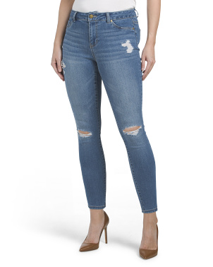 Petite High Waisted Destructed Jeans