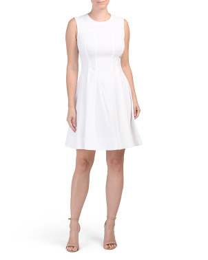Linen Blend Modern Tea Dress