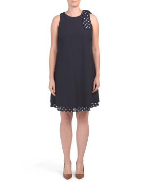 Polka Dot Tie Shoulder Dress