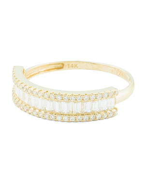 14k Gold Baguette Cz Band Ring