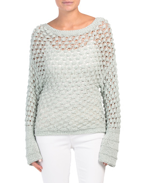 Lace Stitch Pullover Sweater