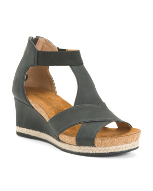 H Band Footbed Wedge Sandals
