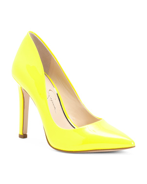 Neon Pointy Toe Pumps