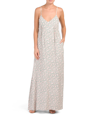 Juniors Floral Print Maxi Dress