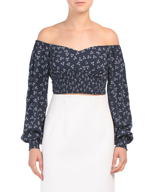 Frida Off The Shoulder Sweetheart Top