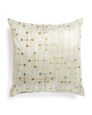 Made In Usa 22x22 Metallic Print Pillow