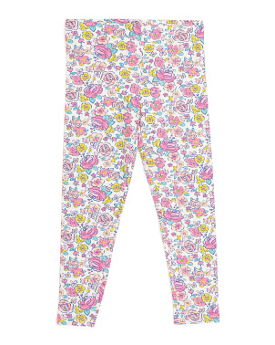 Girls Floral Legging
