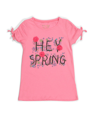 Girls Hey Spring Top