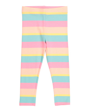 Girls Striped Leggings