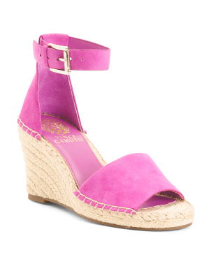 Espadrille Wedge Suede Sandals