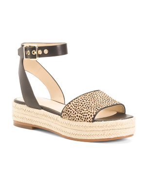 Espadrille Flatform Haircalf Sandals