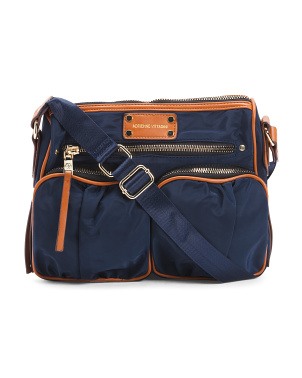 Multi Pocket Nylon Crossbody