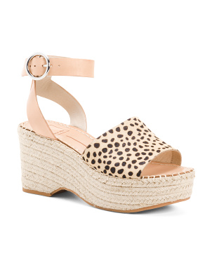 Leather Espadrille Sandals