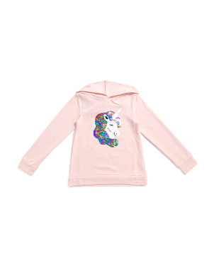 Big Girls Flip Sequin Unicorn Hoodie