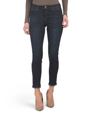 Ab Tech Ankle Jeans With Double Fray Hem