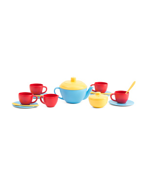 Made In Usa 17pc Recycled Tea Set