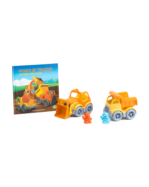 Mixed Up Trucks Book Set With Toy Vehicles