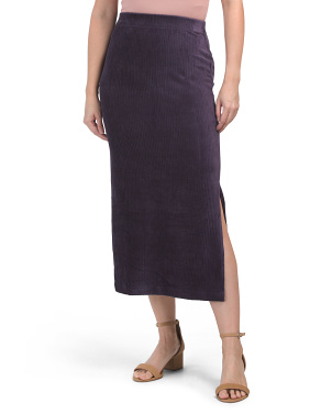 Helen Ribbed Midi Skirt