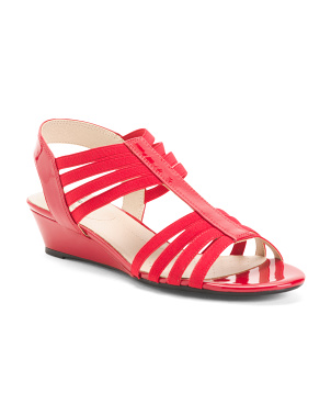 Comfort Elastic Strap Wedge Sandals