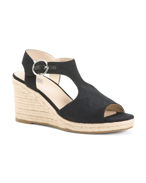 Wide Size Comfort Wedge Espadrille Sandals