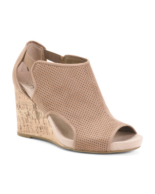 Perforated Comfort Wedge Sandals