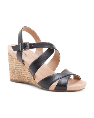 Wide Comfort Wedge Sandals