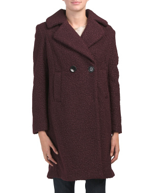 Notch Collar Textured Coat