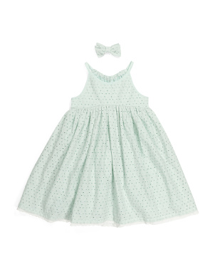 Toddler Girls Strappy Eyelet Dress