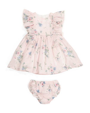 Infant Girls Ruffle Dress & Bloomers